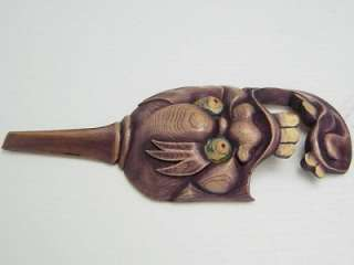 Wood Hand Carved & Painted abstract SPOON ART YNL042c01