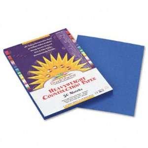 SunWorks Construction Paper   Heavy, 9 x 12, Bright Blue