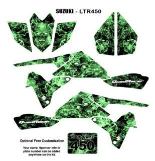 SUZUKI LTR 450 ATV Quad Graphic Decal Kit Green Zombie