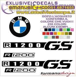 KIT ADESIVI DECAL BMW R 1200 GS 2007
