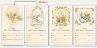 INVITI COMUNIONE 7060270602 LETTERE E BIGLIETTI VISI NUOVO