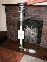CHIMNEY FLUE EXHAUST KIT, FIREPLACE INSERT CORN PELLET