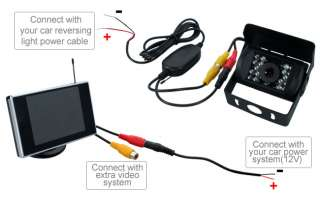 Internal Wireless Monitor+Car Reversing RearView Camera