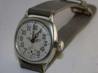 1935 Waltham 17 Jewel Pilots Watch Cushion Case Serviced