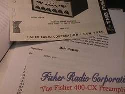 Fisher 400 CX 400 CX 2 Tube Preamp Restoration Kit