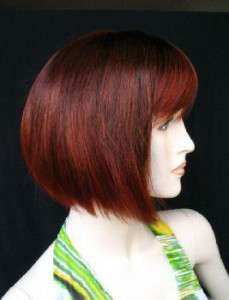 C112 New Cute Short Girl Red Wine wig
