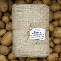 LARGE Jute Hessian Sacks   50kg Potato Storage Sacks