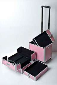 in1 Hairdressing Makeup Beauty Case Cosmetic Trolley