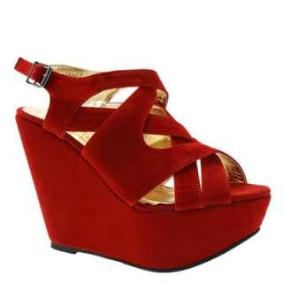 Sandales Femme Compensées Chaussures Rouge Noir Beige Bleue Taille 36