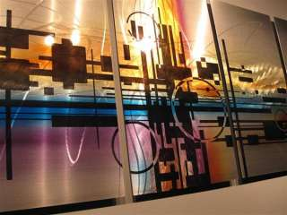 Abstract metal wall art sculpture painting modern original art R.Hawk