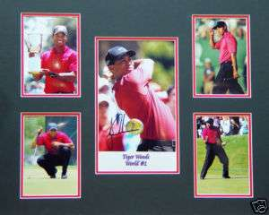 TIGER WOODS GOLF MEMORABILIA SIGNED FRAMED READY 2 HANG
