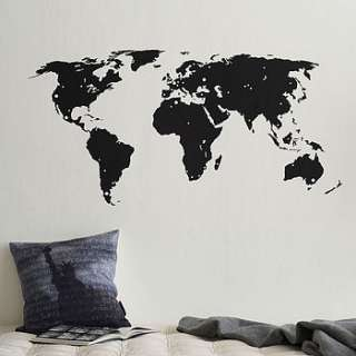 world map wall sticker with destination markers by the binary box