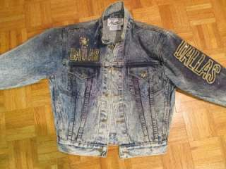 Tony Alamo Rhinestone Studded Dallas Texas Denim Jean Jacket Sz 12 14