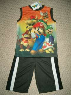 NWT Official Super Mario Luigi & Friends Short Set Size 8 Too Cool