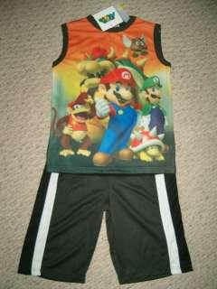 NWT Official Super Mario Luigi & Friends Short Set Size 8 Too Cool