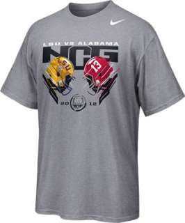 Alabama vs. LSU Nike Grey 2011 BCS National Championship Game Bound