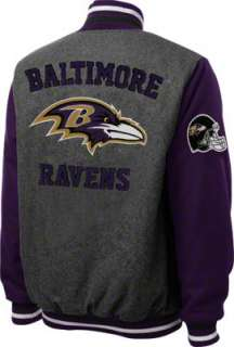 Baltimore Ravens Grey Wool Varsity Jacket