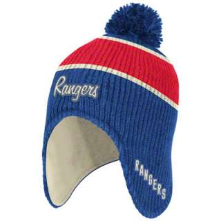 New York Rangers Blue CCM Classics Original Six Dog Earred Pom Knit
