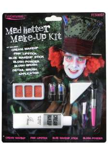 Alice in Wonderland Costumes Alice Accessories Mad Hatter Makeup Kit