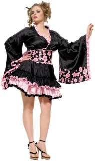 Sexy Plus Size Kimono Costume  Cherry Blossom Geisha Plus Size
