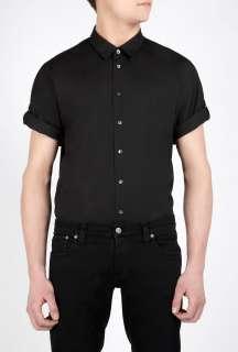 Phillip Lim  Black Short Rolled Sleeve Shirt by 3.1 Phillip Lim