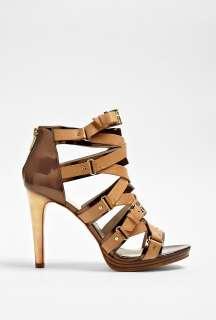 MICHAEL Michael Kors  Tan Leonia Strap Ankle Sandal by MICHAEL