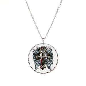 Necklace Circle Charm Cross Angel Wings Artsmith Inc Jewelry
