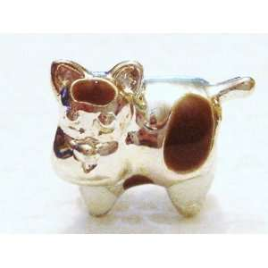 Authentic 925 sterling silver Moo cow charm fits pandora