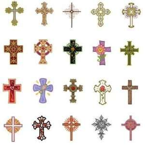 Brother/Babylock Embroidery Machine Card CROSSES #2