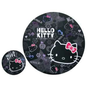 Kitty Mouse Pad   Sanrio Hello Kitty Mouse Pad (Black) Toys & Games