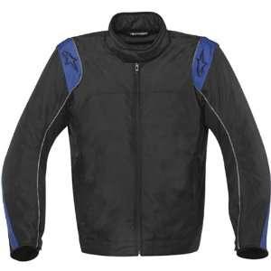 Mens Waterproof Sports Bike Motorcycle Jacket   Black/Blue / Small