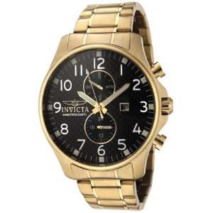 Invicta Mens 0382 II Collection 18k Gold Plated Stainless Steel Watch