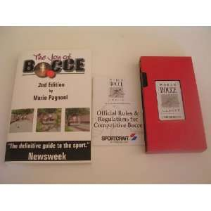 3 Pack   Joy of Bocce Book, Rule book, Bocce My Way