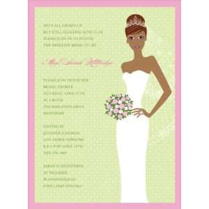 Bride African American Bridal Shower Invitation: Home & Kitchen