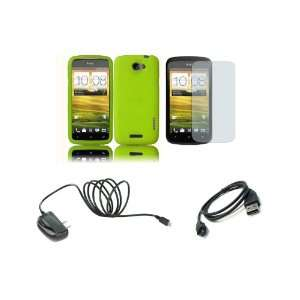 Mobile) Premium Combo Pack   Neon Green Silicone Soft Skin Case Cover