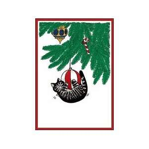 Kliban Cat Christmas Cards   Tree Frolics: Office Products