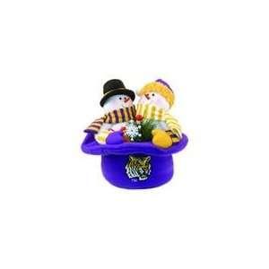 Tigers Snowmen Top Hat Table Christmas Decoration
