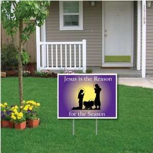 the Season Christmas Lawn Display   18x24 Yard Sign Decoration