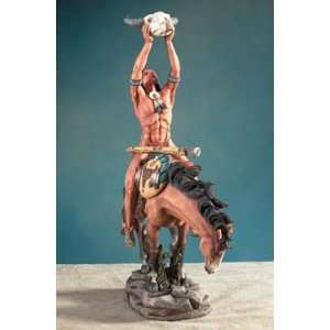 Indian On Vision Quest   Collectible Figurine Statue Sculpture Figure