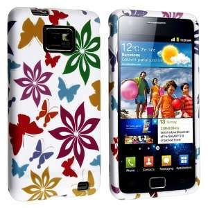 White / Rainbow Color Flower and Butterfly TPU Rubber Skin