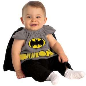 Lets Party By Rubies Costumes Batman Bib Newborn Costume / Gray   Size