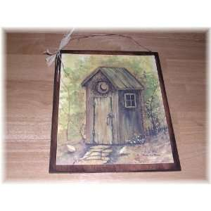Reading Room Country Bath Outhouse Sign Wooden Bathroom