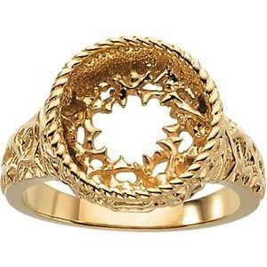 14K Yellow Gold Ladies Crown Of Thorns Ladies Ring Jewelry