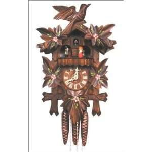 Black Forest 1 Day German Cuckoo Clock with Leafs in