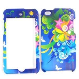 Apple iPod Touch 4 Flower, Stars and Butterflies Hard Case