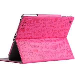 com Cute Witch Series Hot Pink Case/cover for Apple Ipad 3