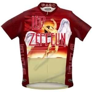 Primal Wear Mens Led Zeppelin Icarus Rock Short Sleeve Cycling Jersey