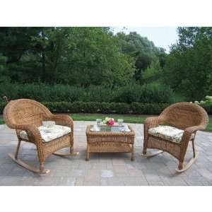 Piece Rocker Set with Coffee Table Fabric Floral Furniture & Decor