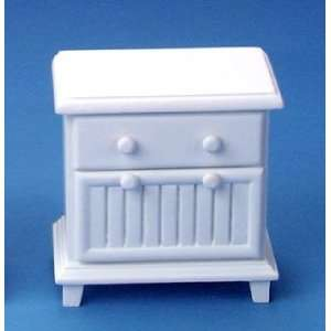 Dollhouse Miniature White Night Stand: Everything Else