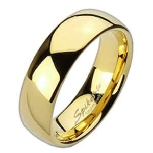 11 Spikes Tungsten Carbide Gold IP Traditional Wedding Band Jewelry
